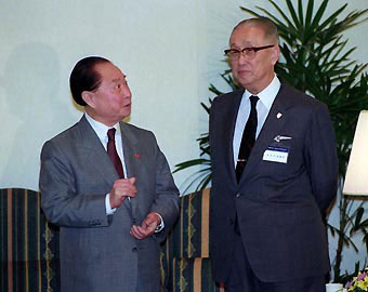 Wang Daohan and Ku Chen-fu, Singapore 1993
